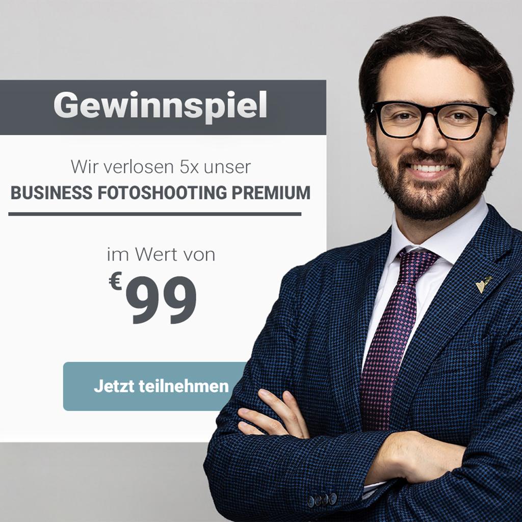 Gewinnspiel Business Fotoshooting Premium
