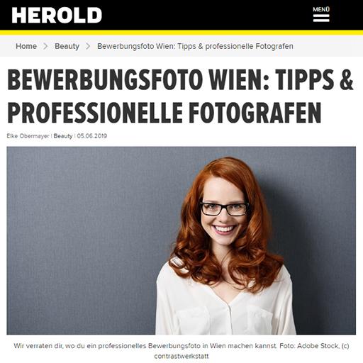 Herold.at: Bewerbungsfoto Wien - Tipps und professionelle Fotografen